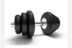 Dumbbell. 3D rendering