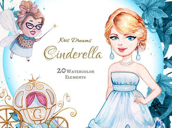 Cinderella Clip Art Set
