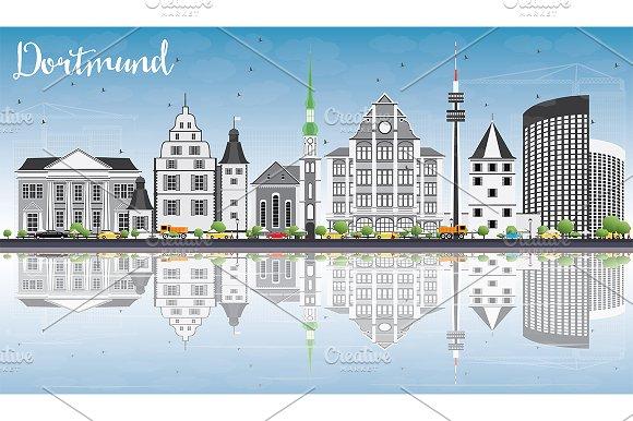 Dortmund Skyline With Gray Buildings