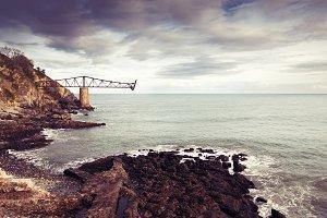 Old loading coal on the coast