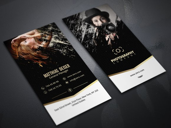 Gold Photography Business Card