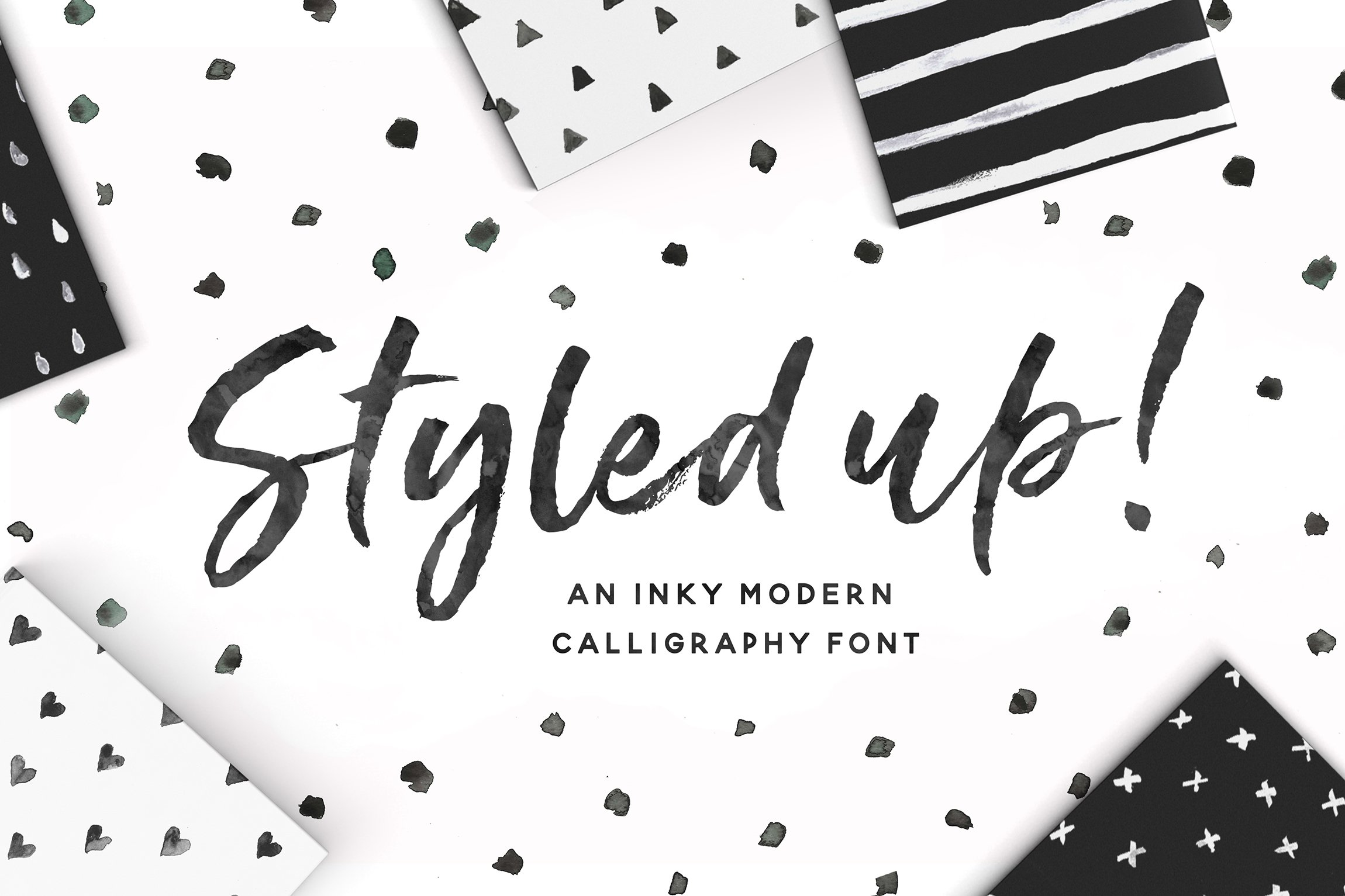 Styled Up Brush Calligraphy Font Duo Script Fonts