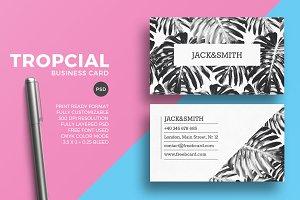 Minimal tropical business card