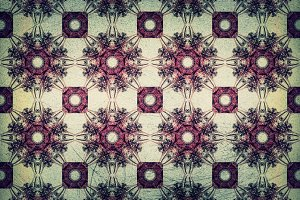 Old Floral Grunge Texture Background