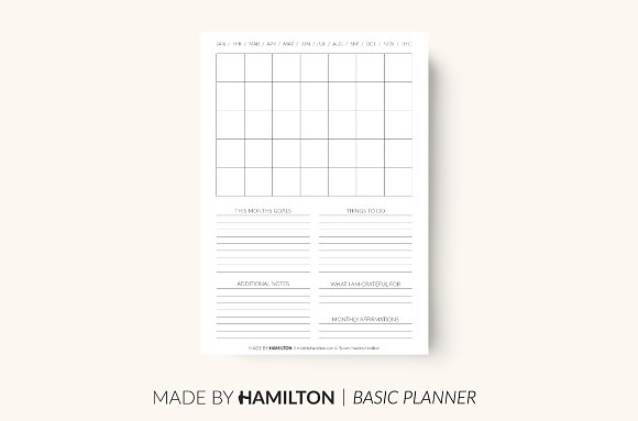 Monthly Basic Printable Planner