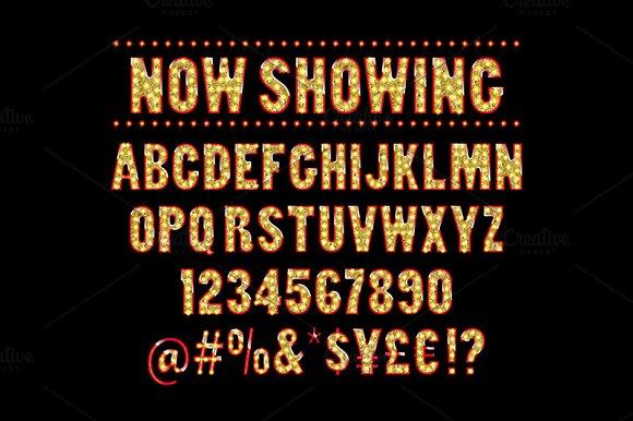 Cinema Alphabet Vector Batch 2