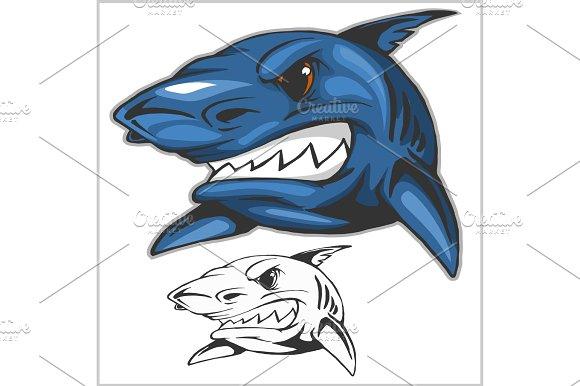 Cartoon Shark Mascot Vector Illustration