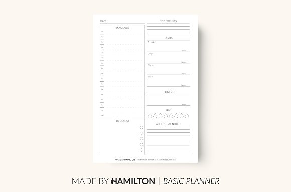 Daily Fitness Printable Planner
