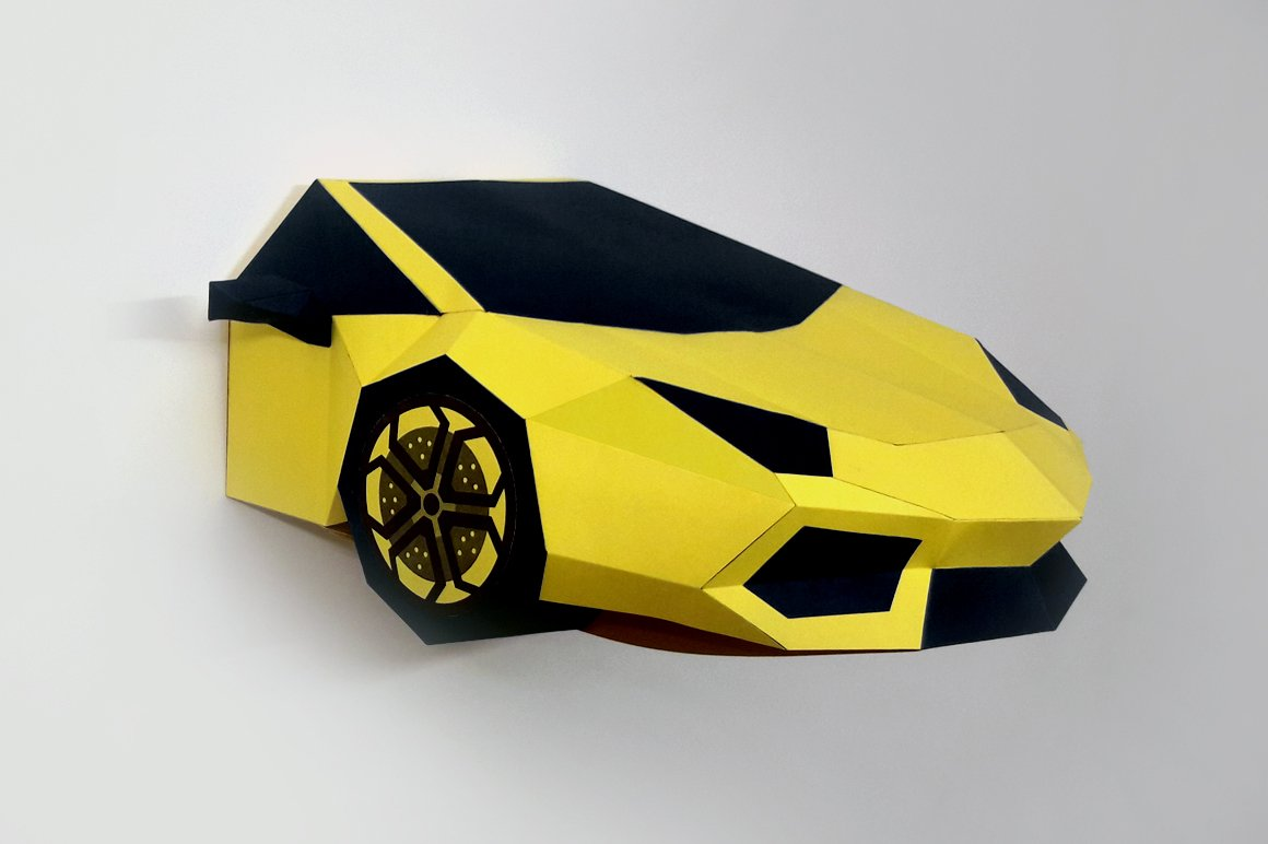 DIY Lamborghini - 3d papercrafts ~ Templates ~ Creative Market