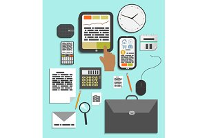 Business work elements set