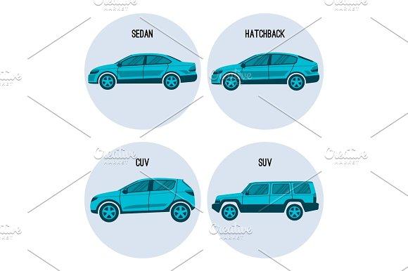 Sedan Saloon Passenger Automobile Hatchback Crossover And Sport Utility Vehicles