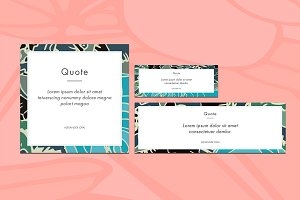 Quote social media vector pack