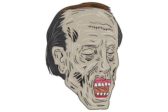 Zombie Head Three Quarter View