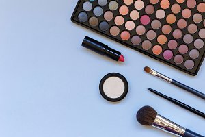 Makeup products with copy space