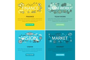 Set of Conceptual Business Vector Web Banners