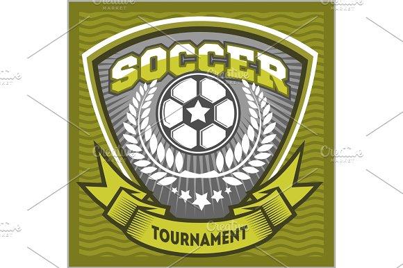 Football Badge Logo Template Design Soccer Team