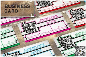 Lines & Squares Business Card