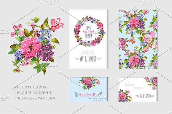 Colorful Floral Cards