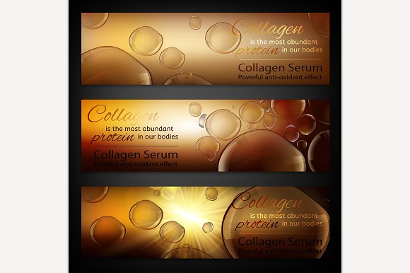 Cosmetic Skin Care Banners Set