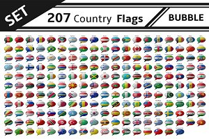 set 207 country flag bubbe