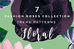 7 Seamless floral pattern with roses