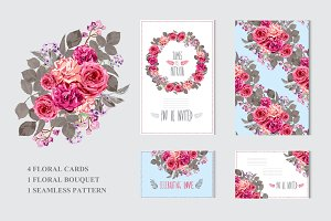 Roses Floral Cards
