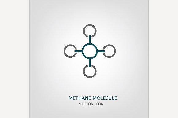 Methane Molecule Icon
