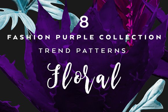 8 Seamless Floral Patterns-Graphicriver中文最全的素材分享平台