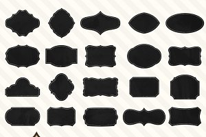 40 Chalkboard Labels, Frames or Tags