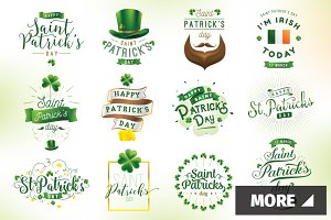 Patrick's day typography + cards