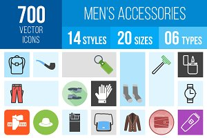 700 Men's Accessories Icons