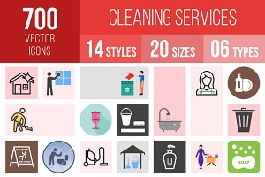 700 Cleaning Services Icons
