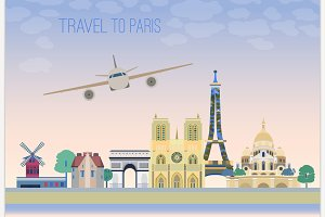 Travel To Paris Graphic Idea