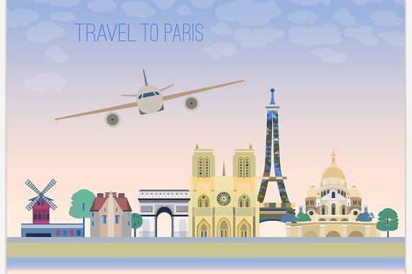 Travel To Paris Graphic Idea