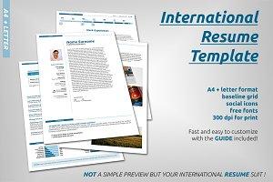 International Resume Template