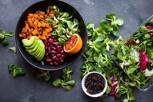 Fresh quinoa organic salad