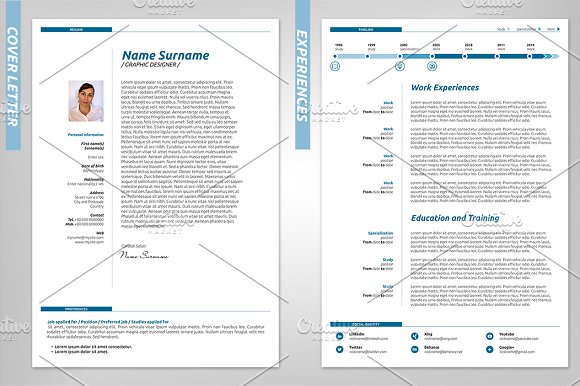 International Resume Template in Resume Templates - product preview 1