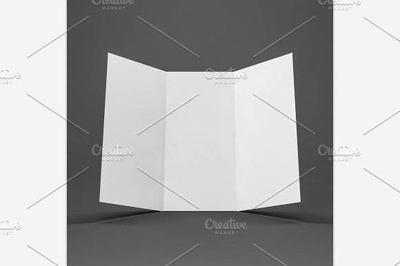 Blank Mockup Trifold Flyer