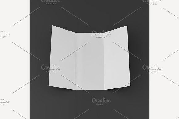 Blank Mockup Trifold Flyer