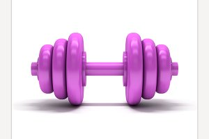 Pink dumbbell