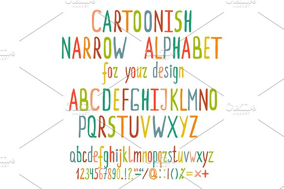 Hand Drawn Cartoon Alphabet Letters