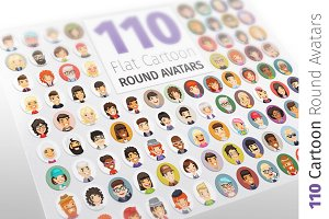 Flat Cartoon Round Avatars