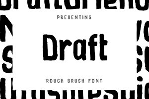 Draft Brush Font