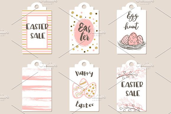 Pink Easter Sale Tags