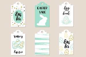 Green Easter sale tags