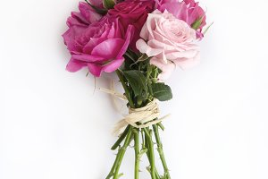 Bouquet of natural roses