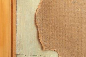 damaged wallpaper edge