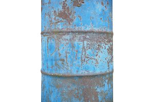 old barrel drum isolated over white