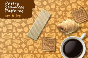 Pastry Seamless Patterns