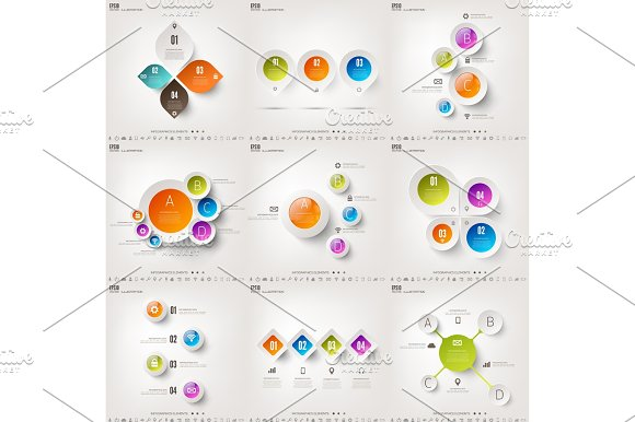 Vector Illustration Infograaphics Set Diagram Or Chart Template With Steps Business Information And Data Visualisation Process Graph